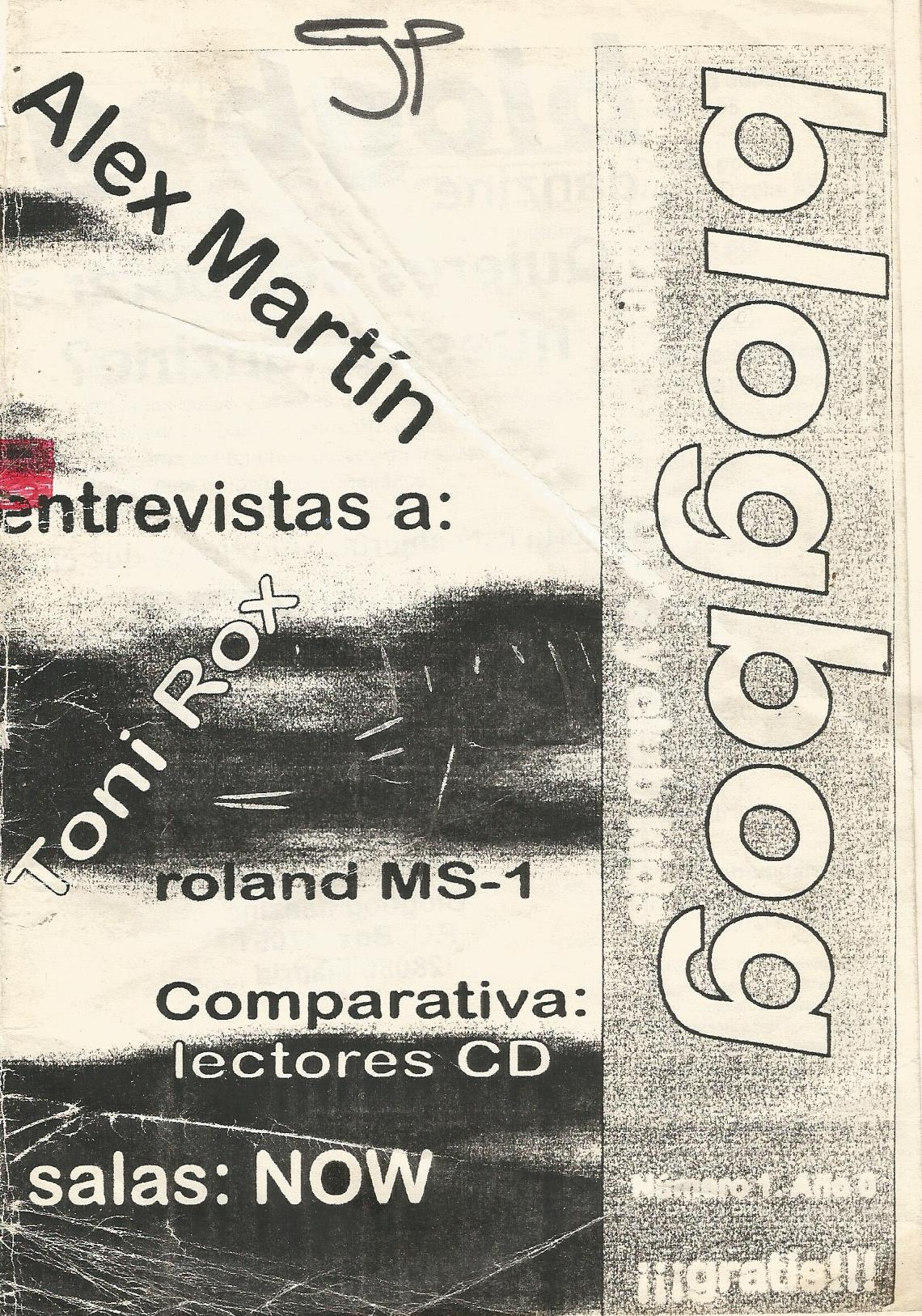 BLOGBOG FANZINE NO.01 MADRID JULIO 1995